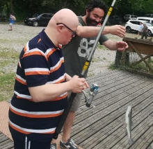 Pesca della trota con l'associazione