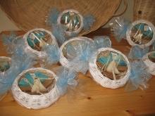 Confezionamento cestini in midollino con saponette