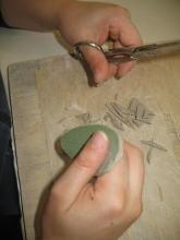 Foglie di salvia in argilla